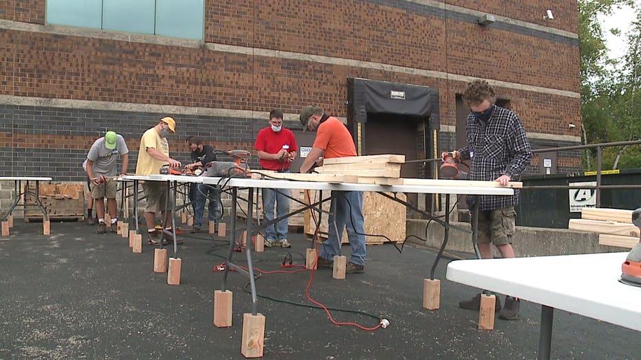 Volunteers build bunk beds for kids in need in Waukesha County