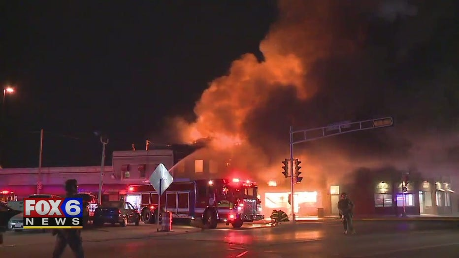 Fires burn amid protests in Kenosha