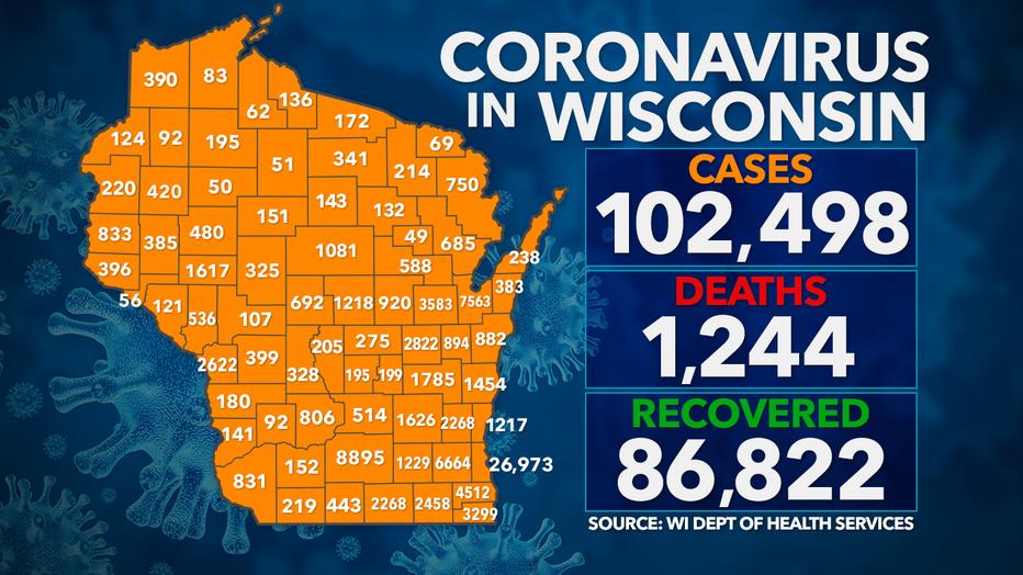 Coronavirus in Wisconsin: Monday, Sept. 21