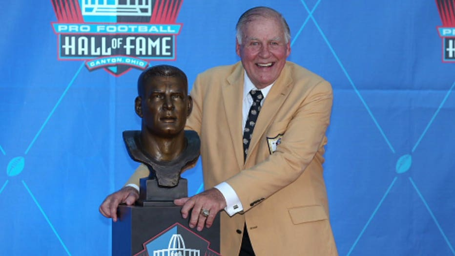 Former Green Bay Packers offensive lineman Jerry Kramer at the Pro Football Hall of Fame in Canton, Ohio