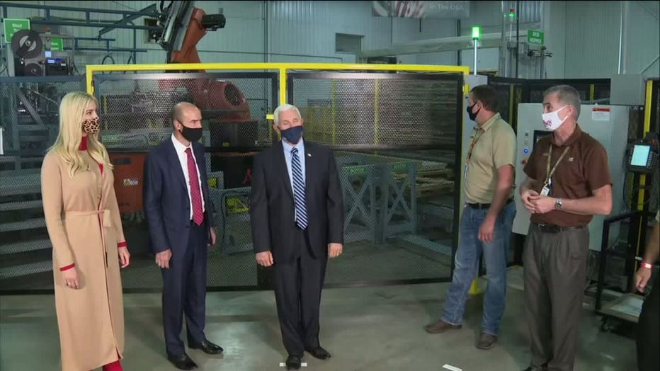 Vice President Mike Pence visits manufacturing facility in Eau Claire