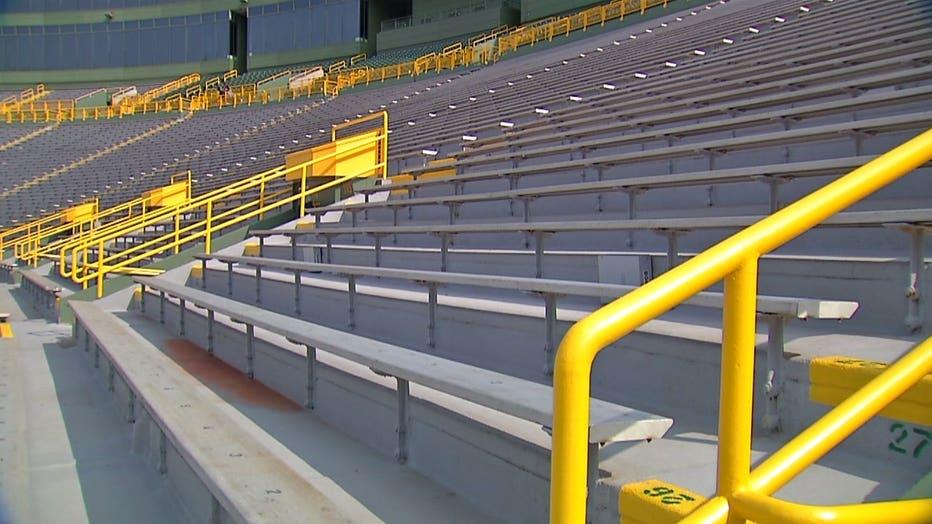 Empty Lambeau Field