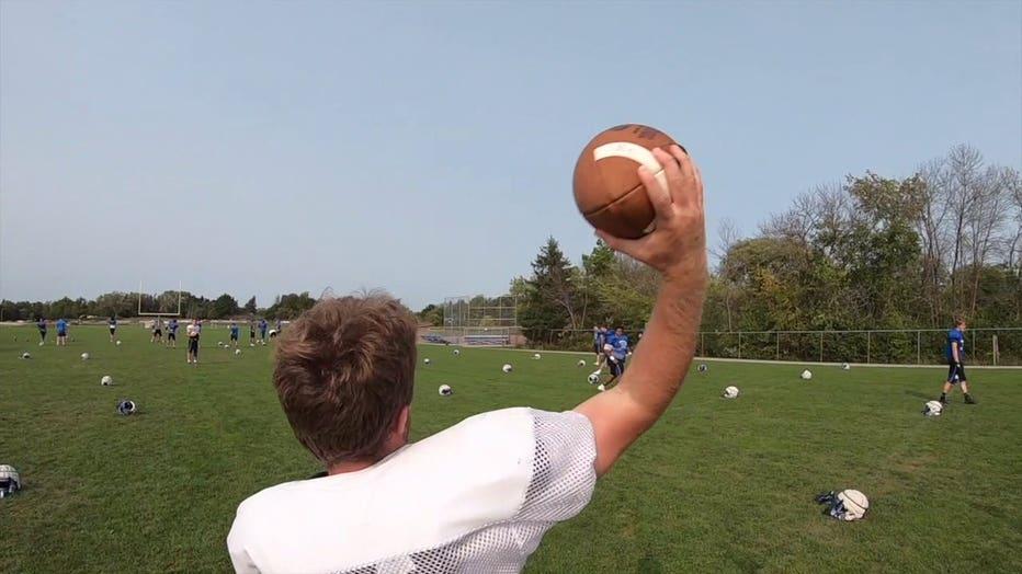 Brookfield Central High School football practice