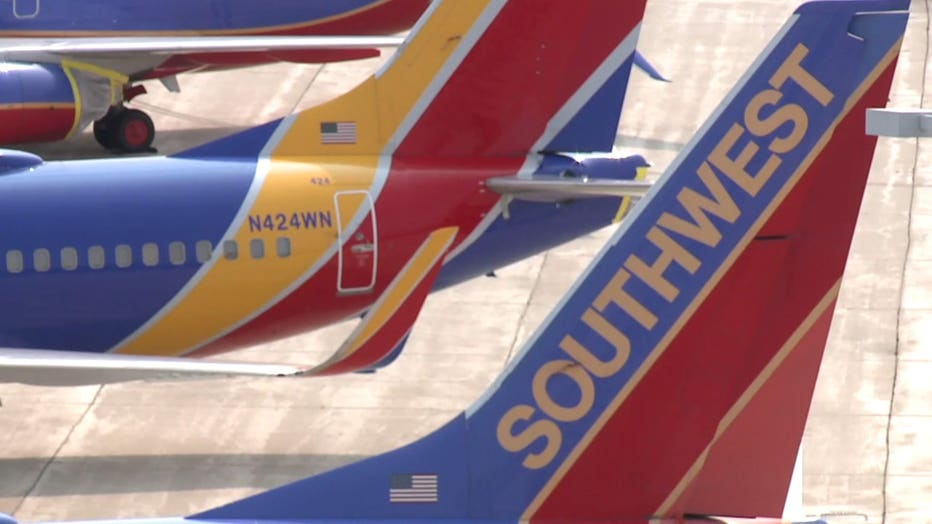 Southwest Airlines planes at Milwaukee Mitchell International Airport