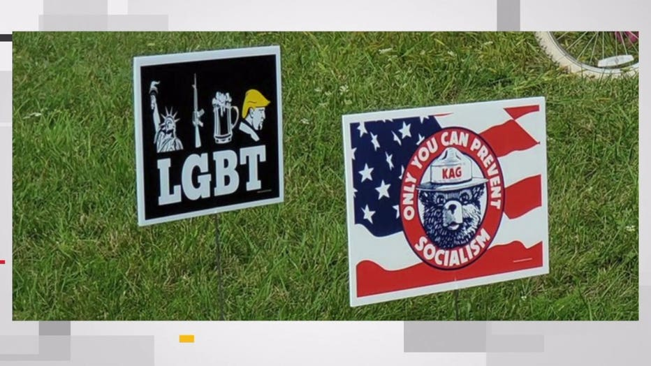 Waukesha County GOP distances itself from Trump signs 'in poor taste'