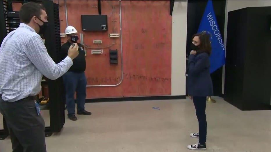 Kamala Harris visits union training facility in Wauwatosa