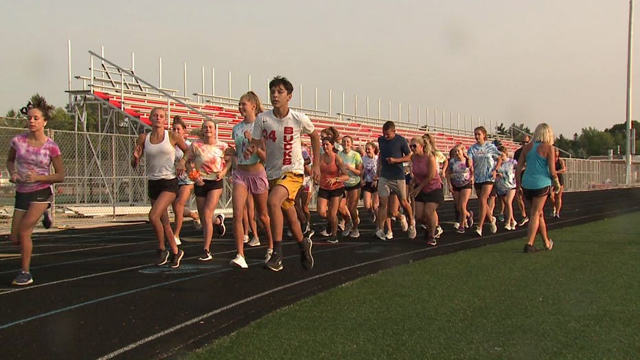 Arrowhead High School girls swimming and diving team holds a 5K run/walk benefiting Make-A-Wish Wisconsin