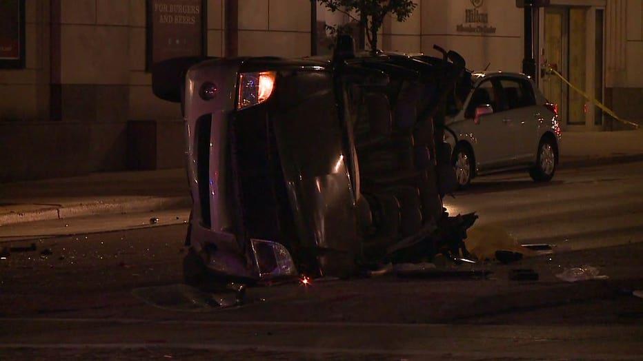 Crash at 6th and Wisconsin