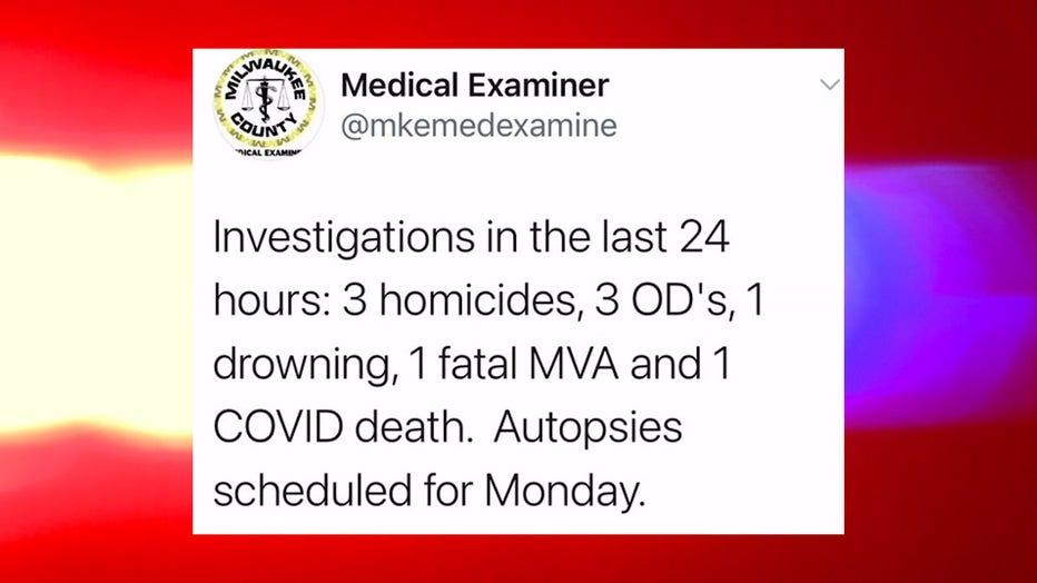 Medical examiner investigates at least 9 weekend deaths