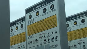 Signs with COVID-19 guidelines spotted at Lambeau Field