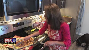 Yum! Check out the Cooking Mom's maple & sausage breakfast bake