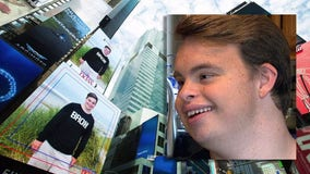 Hartland teen's charitable effort lands him on Times Square screen