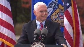 VP Mike Pence campaigns at Weldall Manufacturing in Waukesha