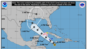 Delta strengthens into hurricane, heads for US gulf coast