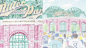 Artist creates Miller Park using names of every Brewers player in history