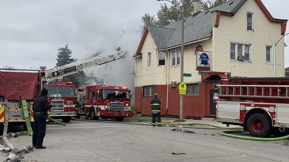 Fire crews respond to structure fire near 7th and Greenfield