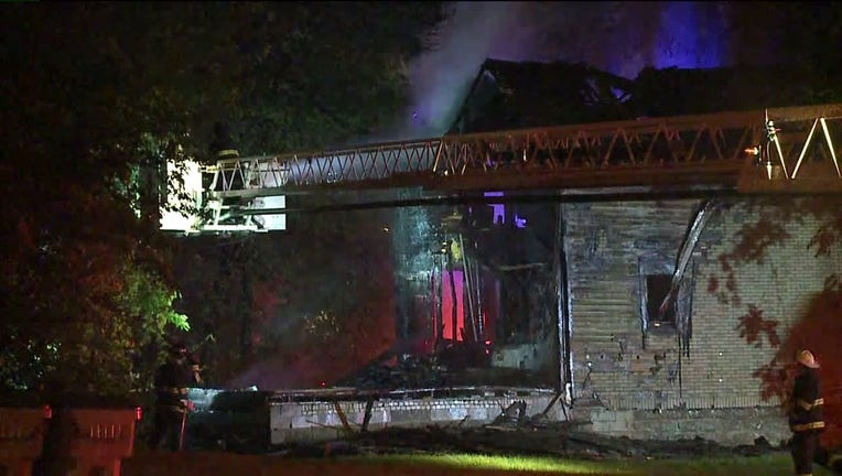 Vacant house fire near 12th and McKinley in Milwaukee