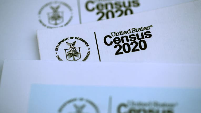 Mail with United States Census 2020 logo displayed.
