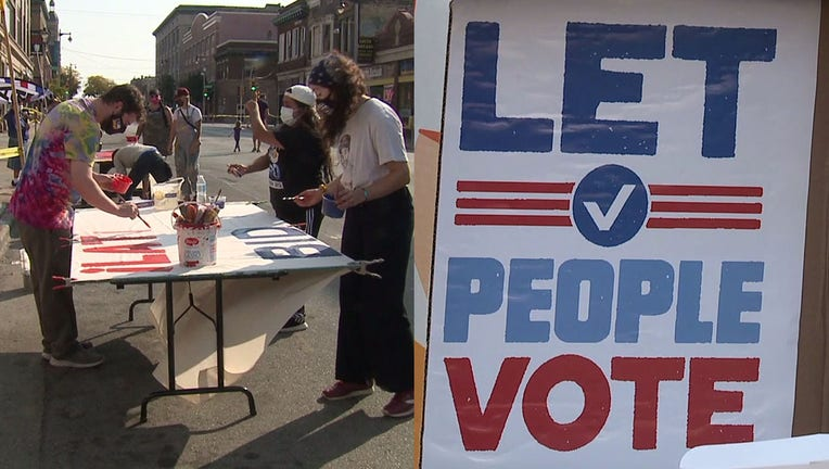 Voces de la Frontera holds a voter registration block party on Milwaukee's south side