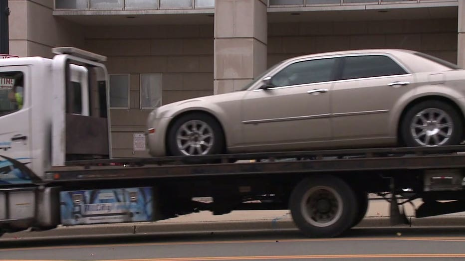 Car, involved in 4-year-old girl's abduction, towed from area near 10th and State