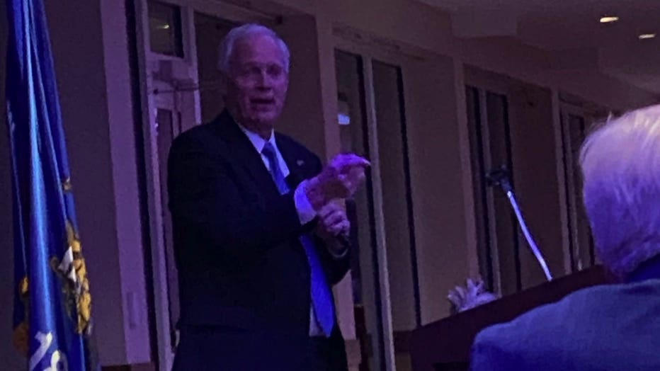 Sen. Ron Johnson at a Republican Party of Ozaukee County fundraiser in Mequon.