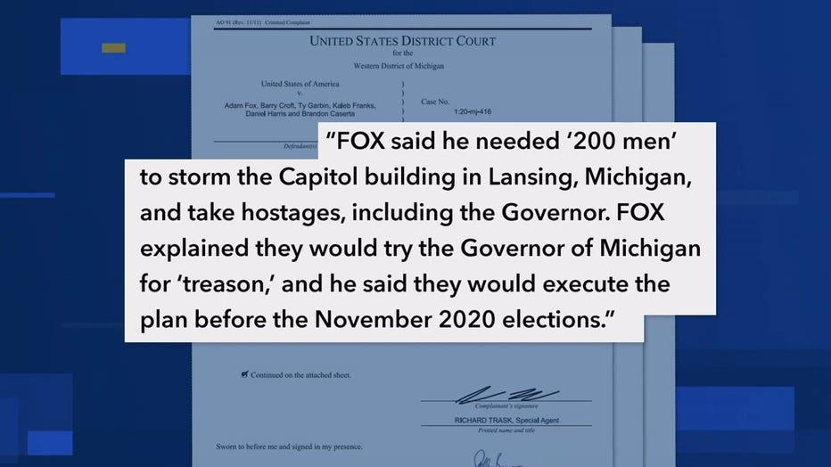 Cambria - plot to kidnap Michigan governor