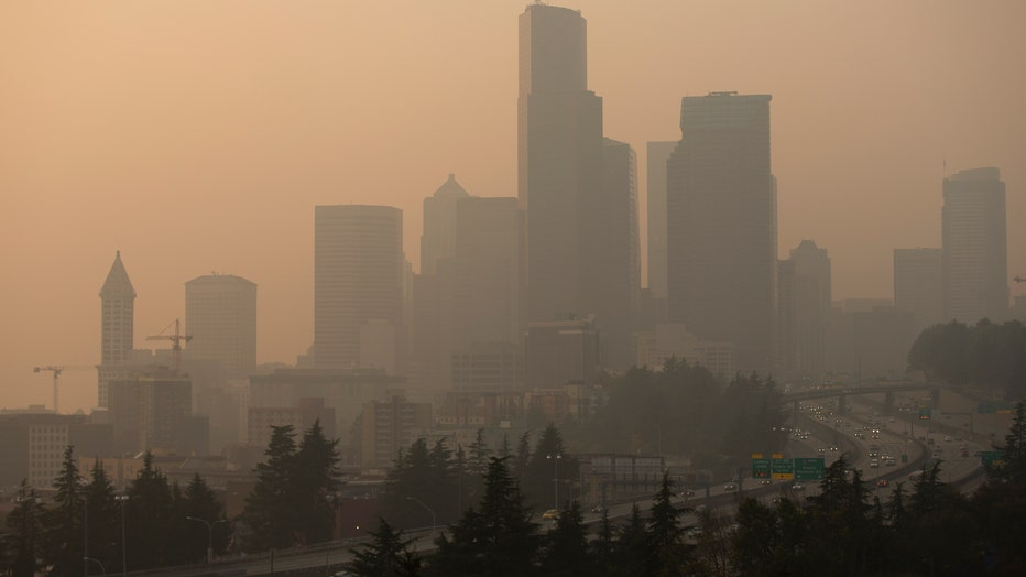 52978d18-Massive Smoke Cloud Descends On Seattle Amid Historic Fires