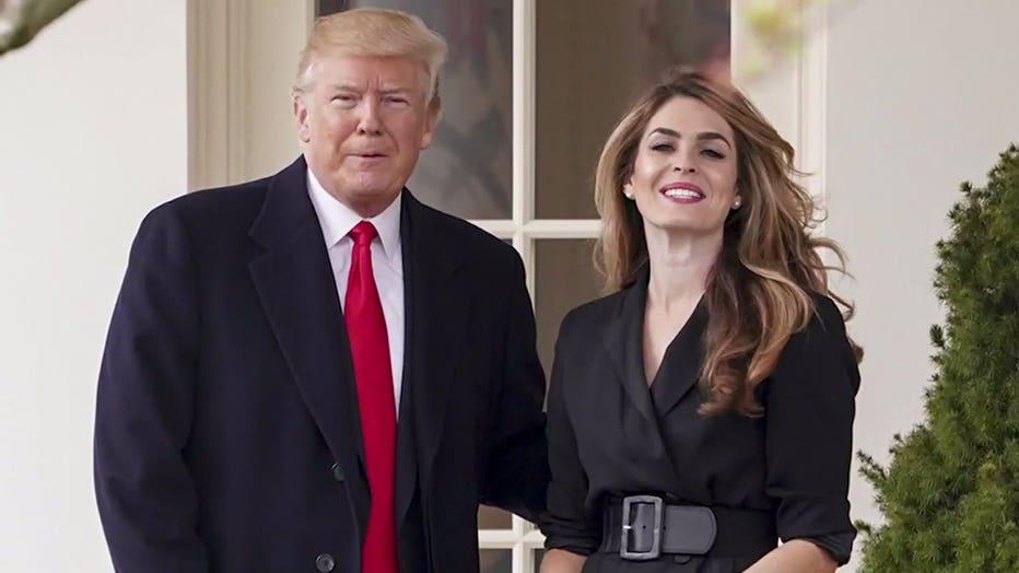 President Donald Trump and Hope Hicks