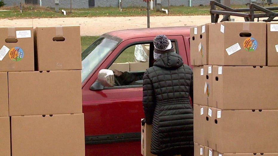 Fond du Lac Community Church drive-thru food giveaway on Wednesday, Oct. 21