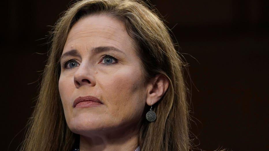 Supreme Court nominee Amy Coney Barrett participates in the third day of her Senate Judiciary Committee confirmation hearing on Capitol Hill on Oct. 14, 2020 in Washington, D.C. (Photo by Drew Angerer/Getty Images)