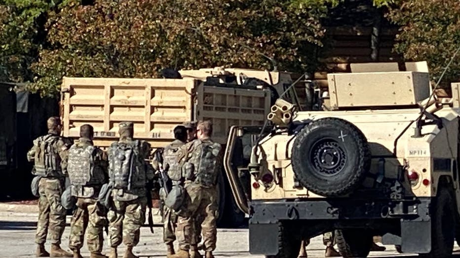 Wisconsin National Guard at State Fair Park ahead of Alvin Cole/Joseph Mensah decision