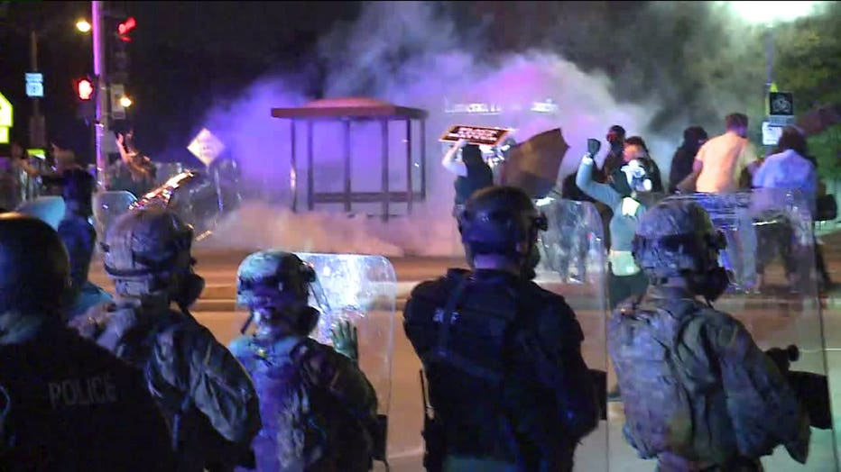 Protests form in Wauwatosa for a third night after the decision not to charge Officer Joseph Mensah in the death of Alvin Cole
