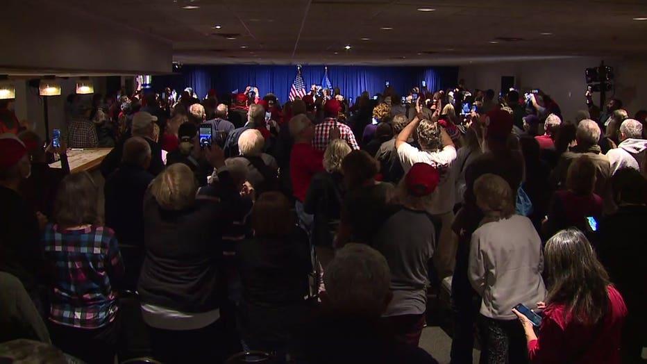 Eric Trump campaigned in Menomonee Falls