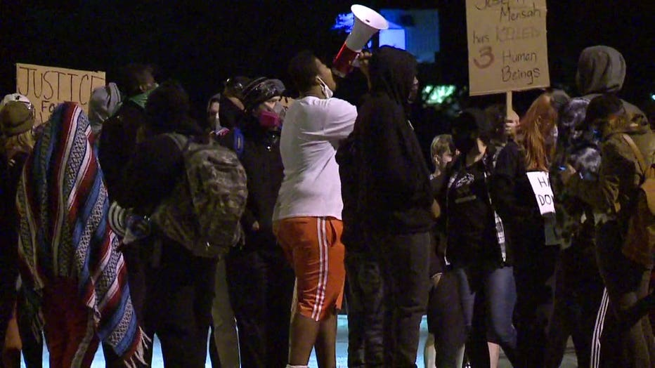 Protest outside of Wauwatosa City Hall on Oct. 10 following the decision not to criminally charge Officer Joseph Mensah