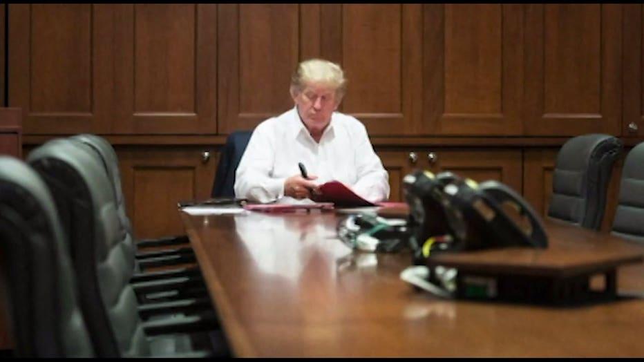 President Donald J. Trump at Walter Reed National Military Medical Center