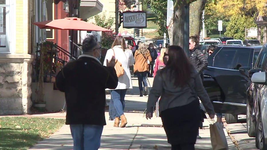 People in Cedarburg amid the COVID-19 pandemic