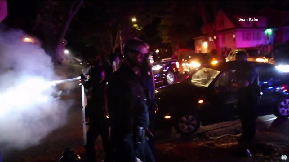 Police, protesters clash overnight in Wauwatosa