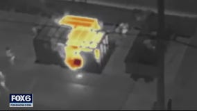 Infrared drone helps find hot spots amid fire at the cheel