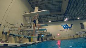 Whitnall High School diver making social media splash