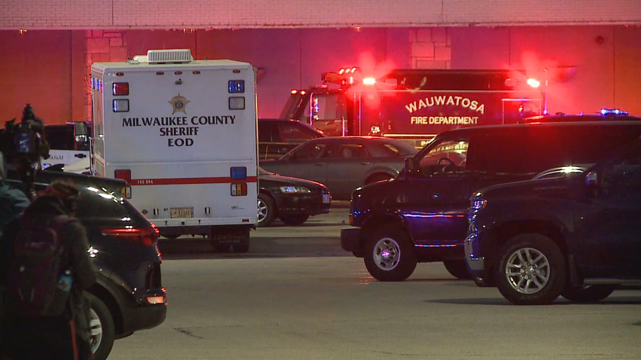 Law enforcement at the scene of a shooting at Mayfair Mall on Friday, Nov. 20, 2020.