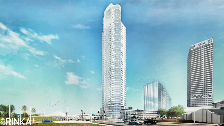 Rendering of Couture project on Milwaukee's lakefront
