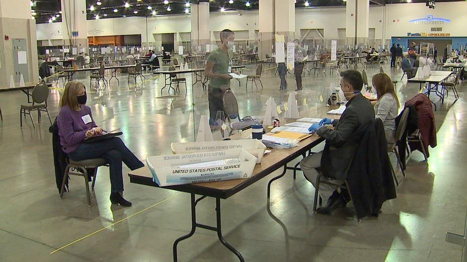 Milwaukee County presidential election recount at the Wisconsin Center
