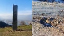 Mysterious monolith 'disappears' from Romanian hillside days after discovery