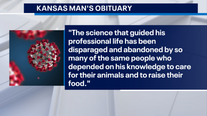 Kansas man's obituary criticizes those who won't wear masks
