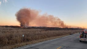 Fire breaks out in state wildlife area in Tichigan