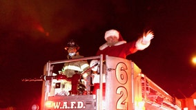 West Allis Fire Department rescues Santa from chimney