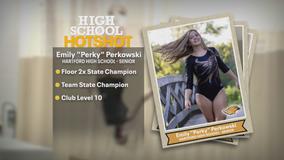 Hartford High School state champion gymnast does it all