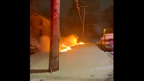 Wild video of downed power line in West Bend