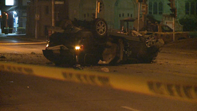 Man seriously injured in Milwaukee rollover crash