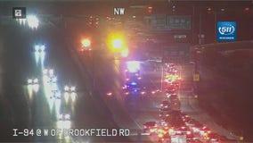 Crash closes I-94 WB in Brookfield